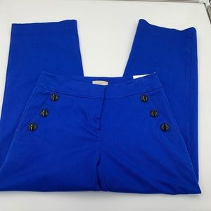 LOFT blue dress pants with black buttons